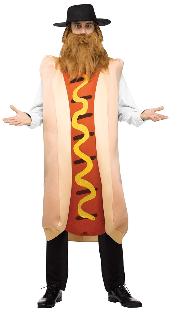 Kosher Hot Dog Adult Mens Costume