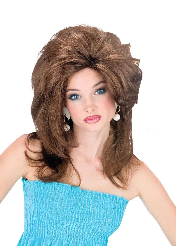 Brunette Rocking 80s Wig