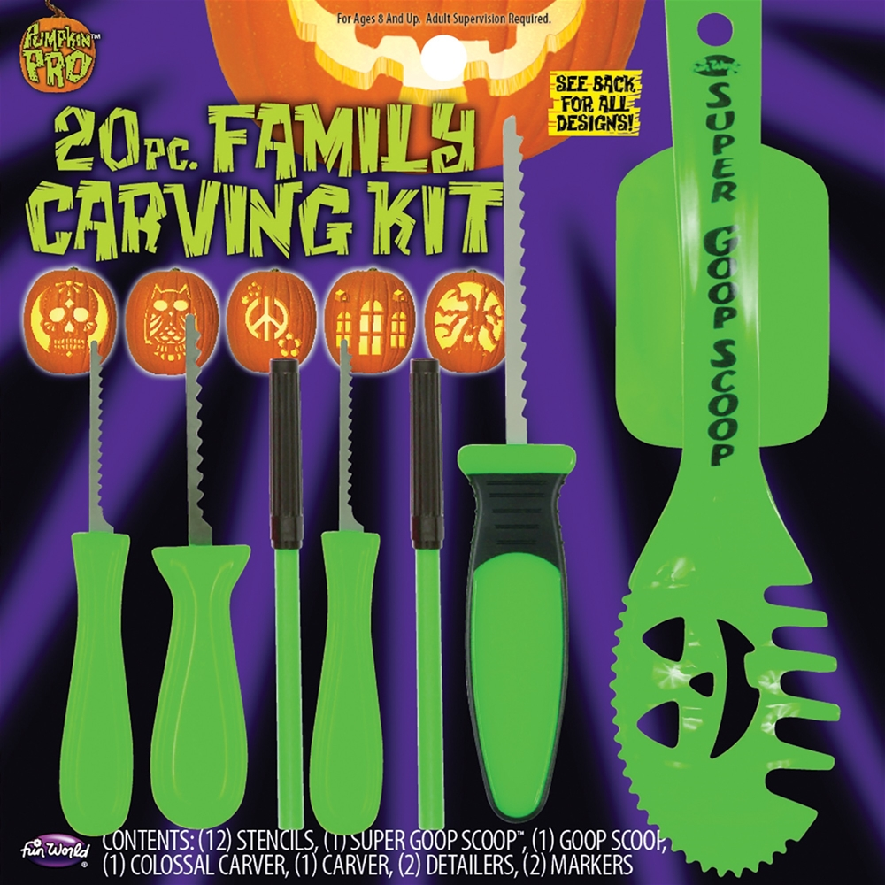 Green Family Pumpkin Carving Kit 20pc 94650