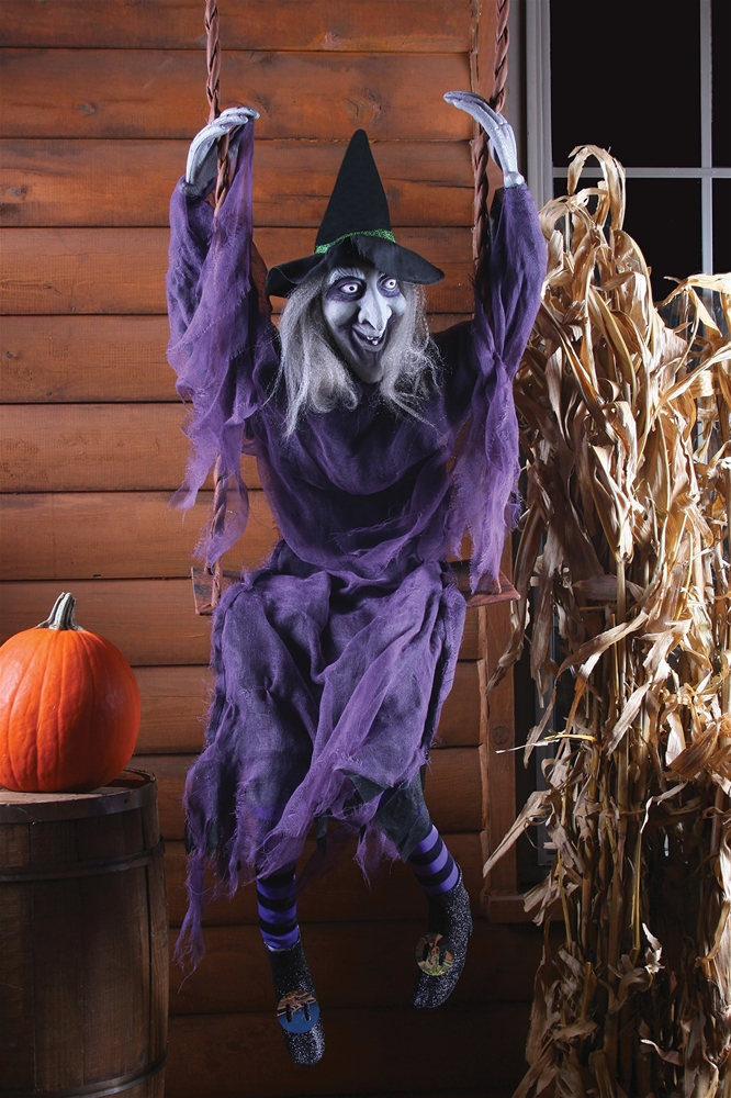 Swinging Dead Witch Prop