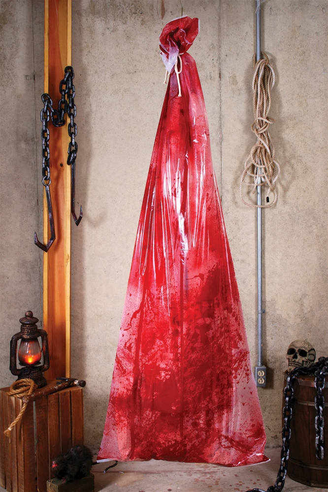 Bloody Body in a Bag Prop