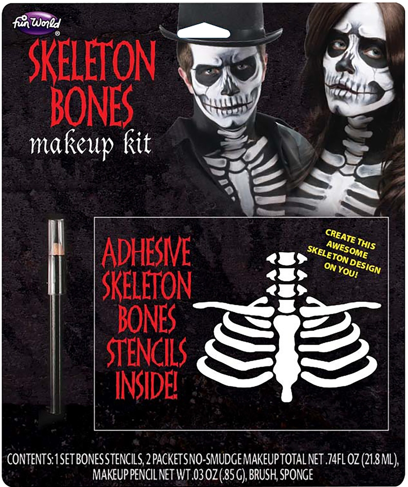 [Skeleton Bones Makeup Kit] (Skeleton Makeup)