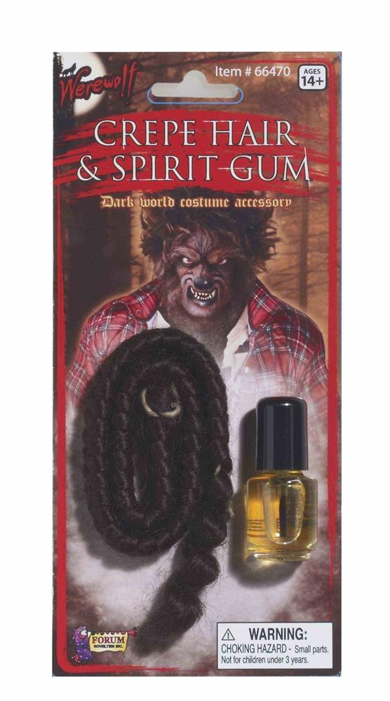 Werewolf Crepe Hair & Spirit Gum Set