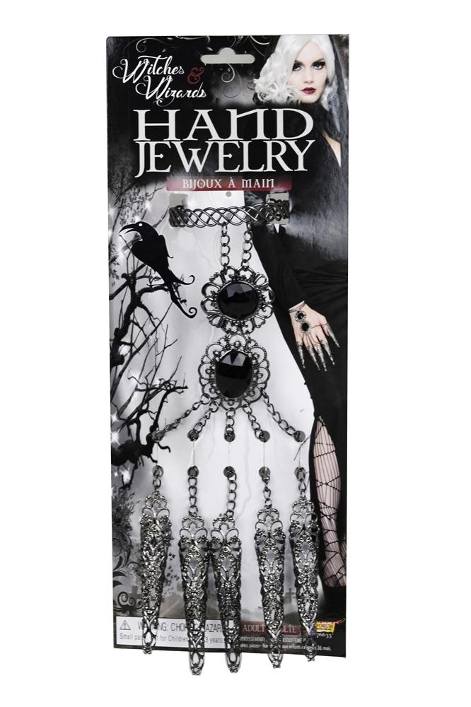 Gothic Priestess Hand Jewelry Set