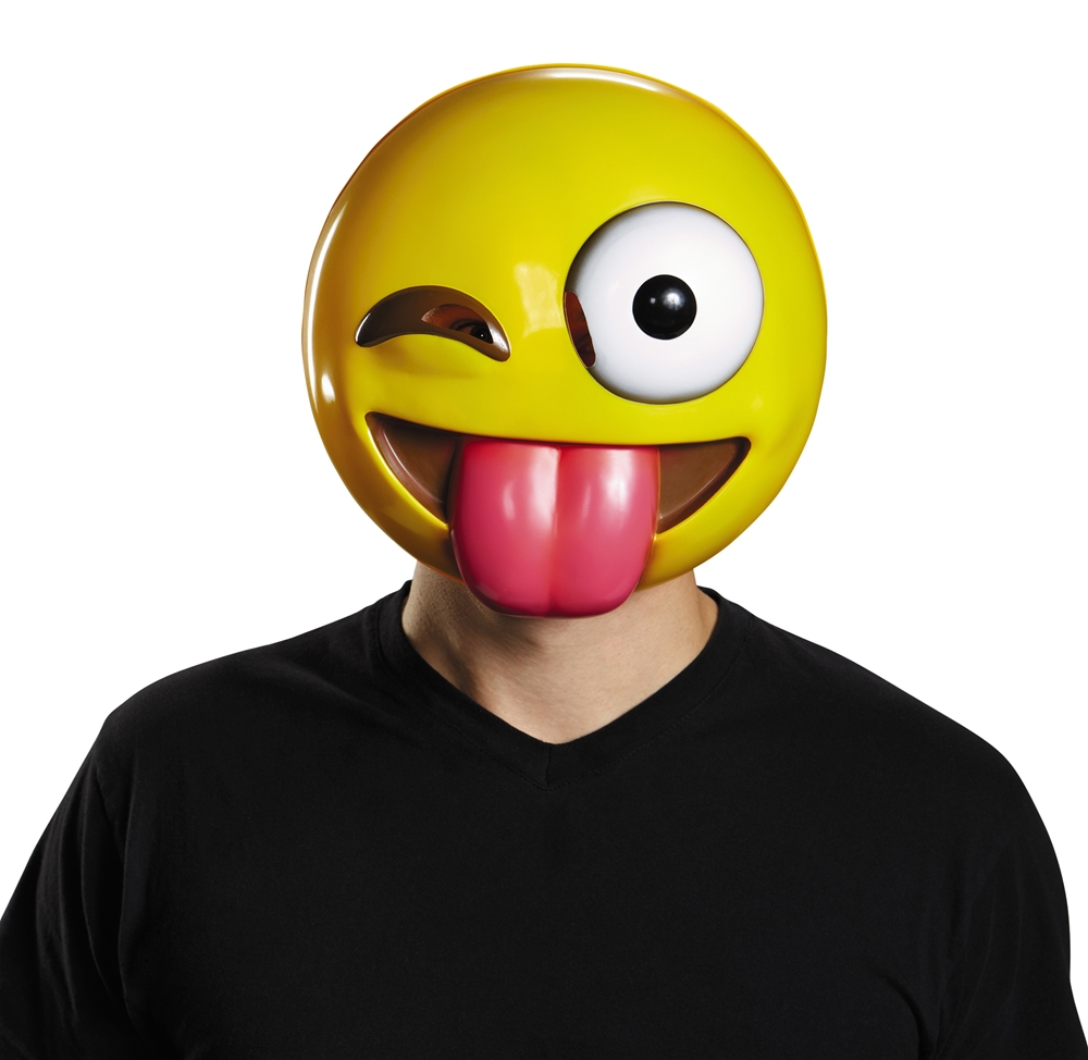 Tongue Out Emoji Adult Mask