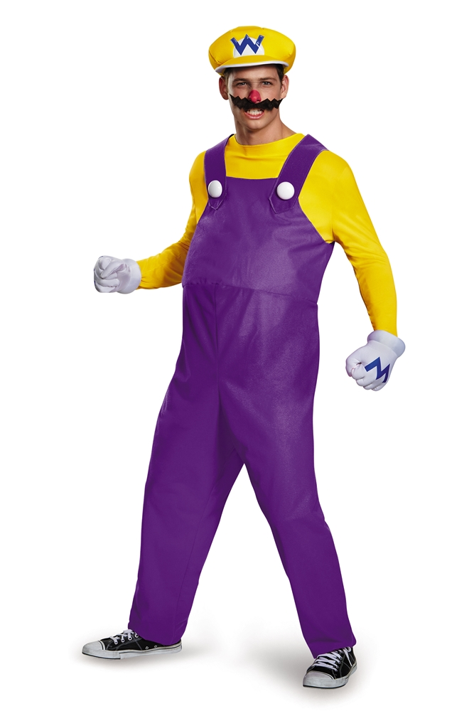 Super Mario Brothers Deluxe Wario Adult Mens Costume