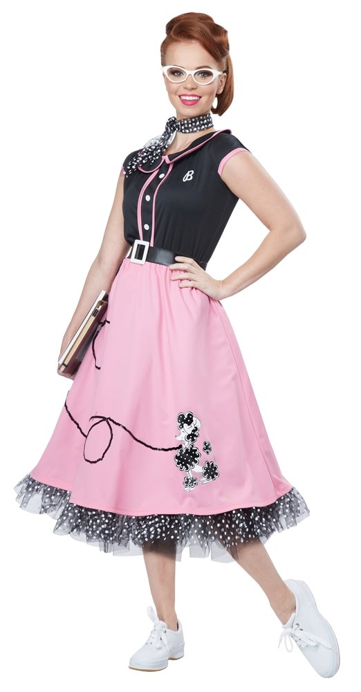 50s Pink Poodle Sweetie Adult Womens Costume (2)