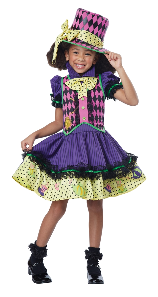 [Mad Hatter Deluxe Dress Child Costume] (Deluxe Dress Child Costumes)