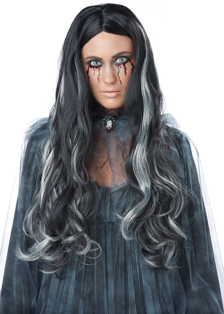 Bloody Mary Black and Grey Wig
