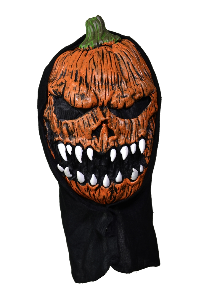 Frightening Orange Pumpkin Mask