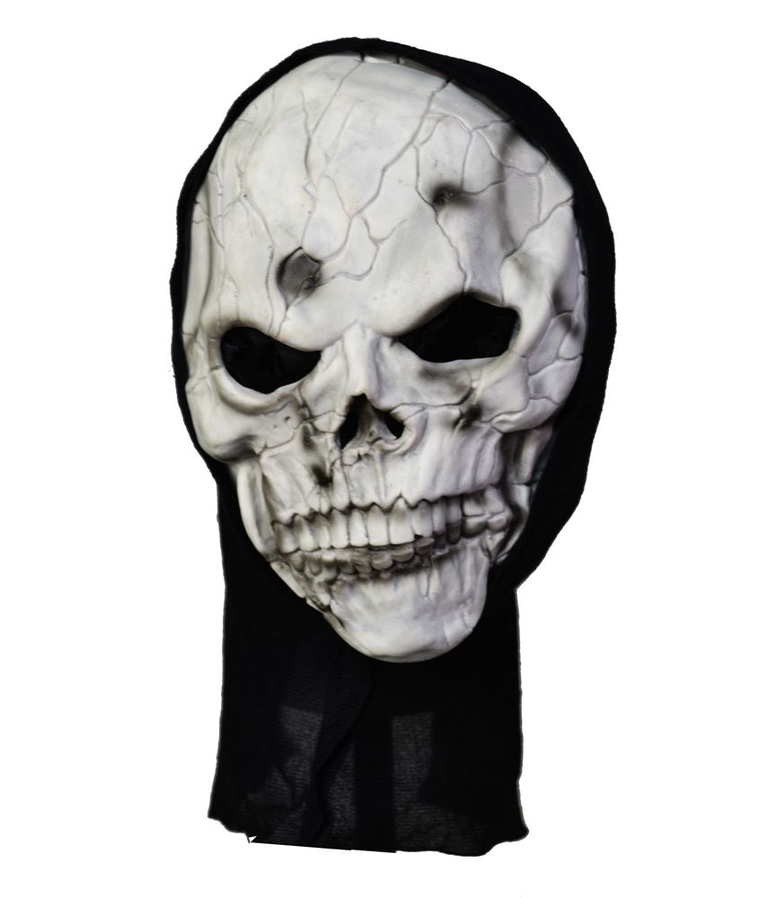 Frightening Grey Skull Mask