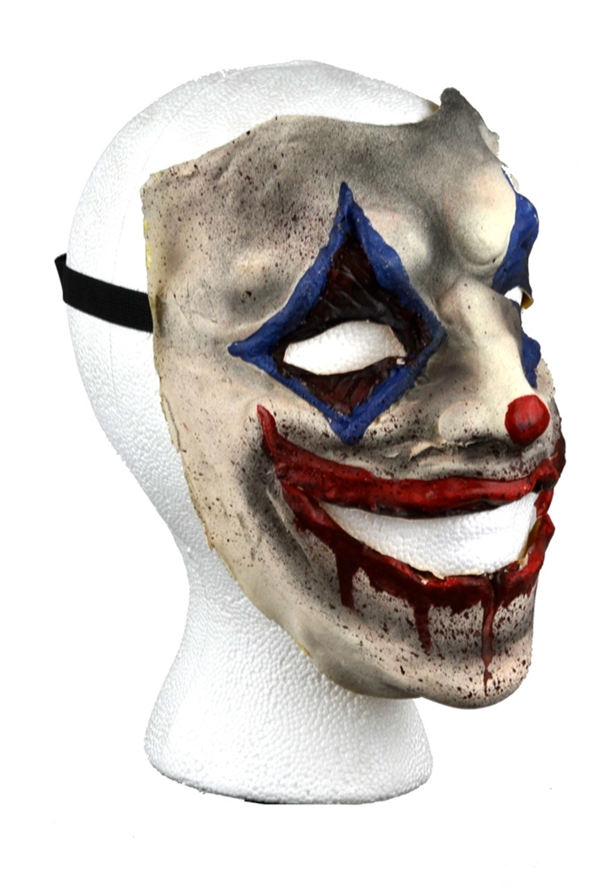 Creepy Smiling Bloody Clown Mask
