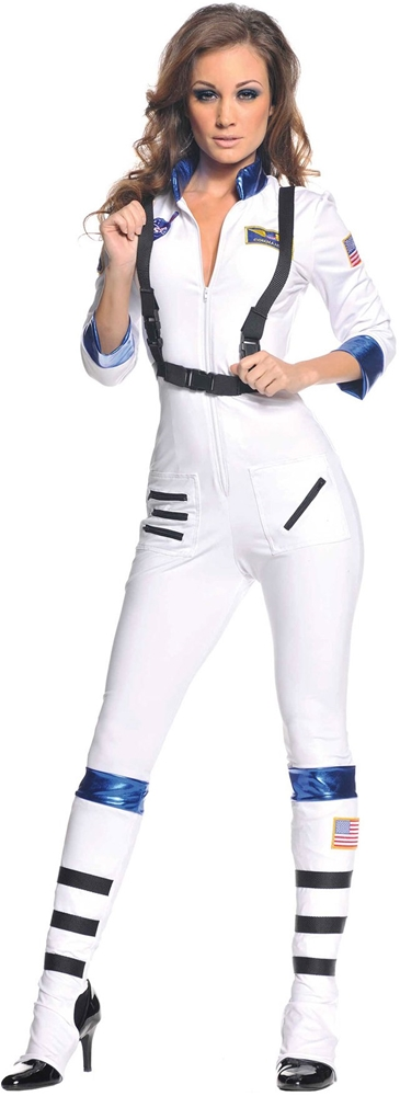 Astronaut Babe Jumpsuit Adult Womens Costume