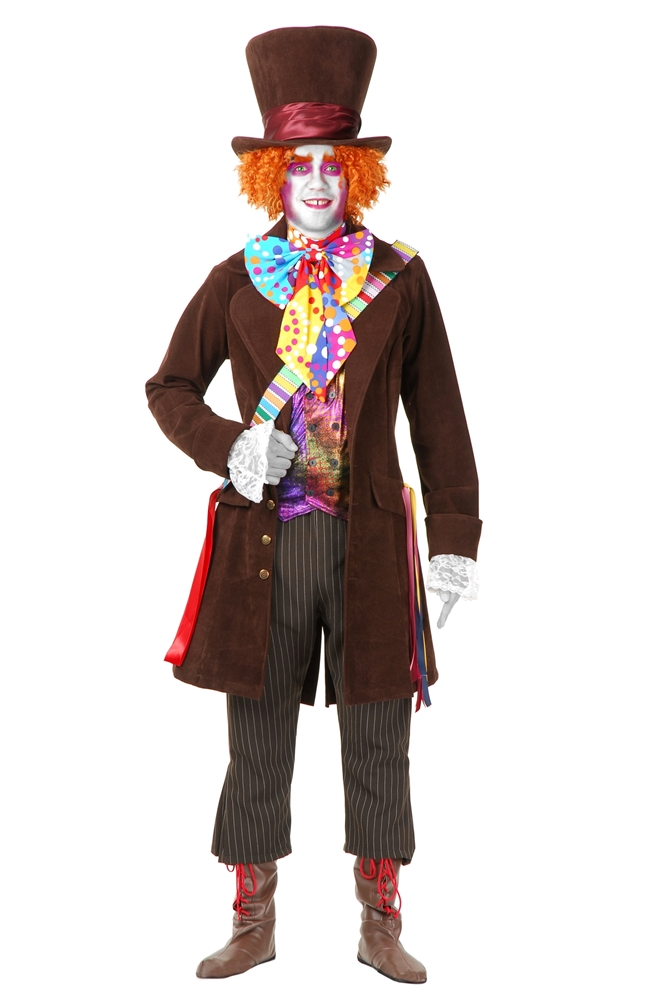 Electric Mad Hatter Deluxe Adult Mens Plus Size Costume (Men Mad Hatter Costume)