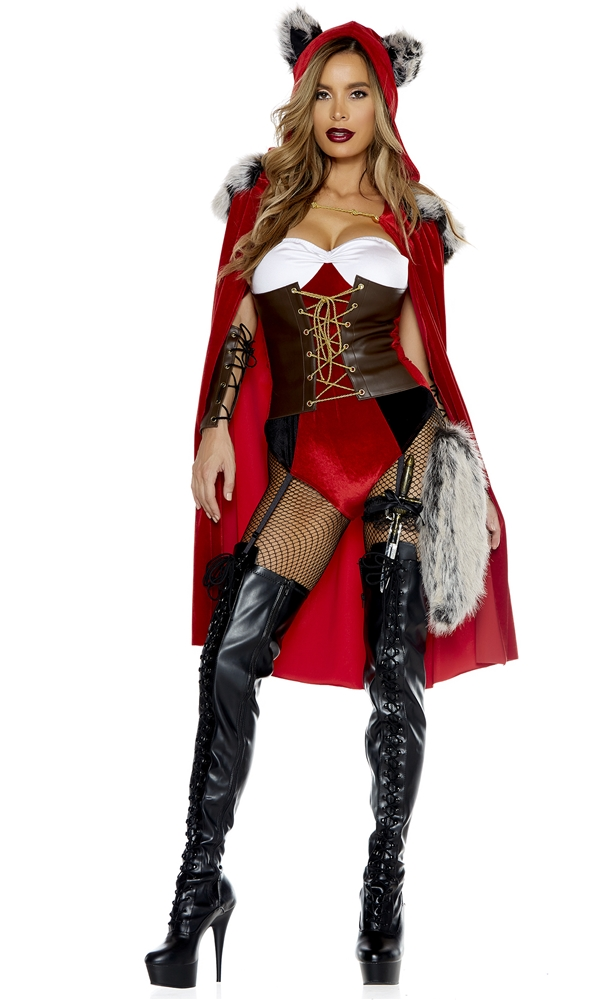 Red Haute Riding Wolf Adult Womens Costume