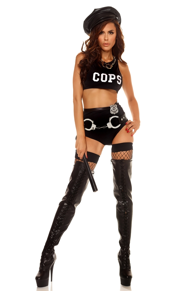 Sultry Patrol Cop Adult Womens Costume