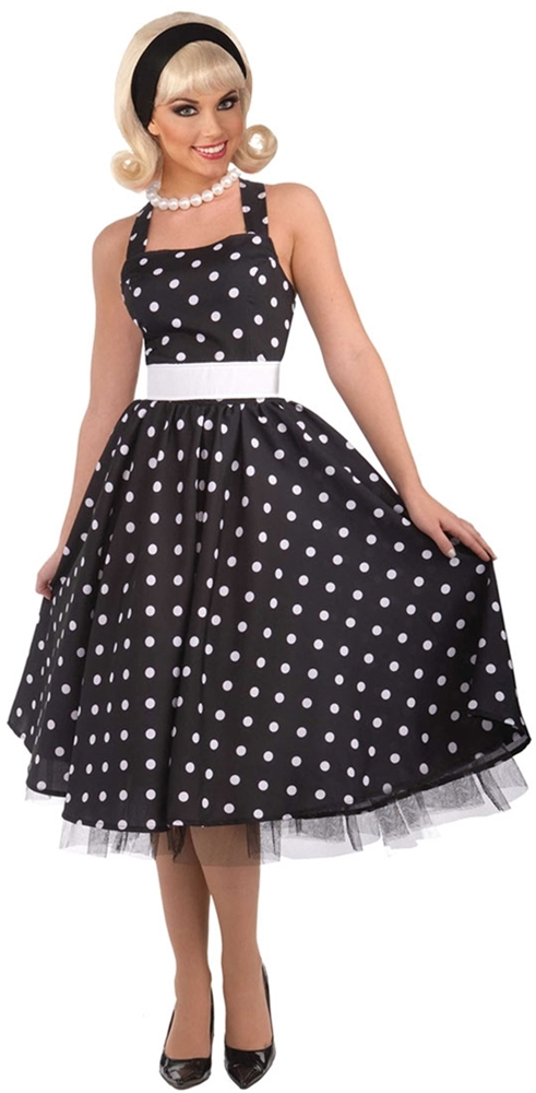 50s Polka Dot Cutie Adult Womens Costume ()