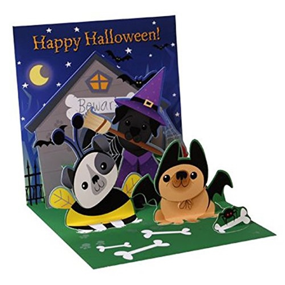 Dogs Like Candy Halloween Pop-Up Greeting Card