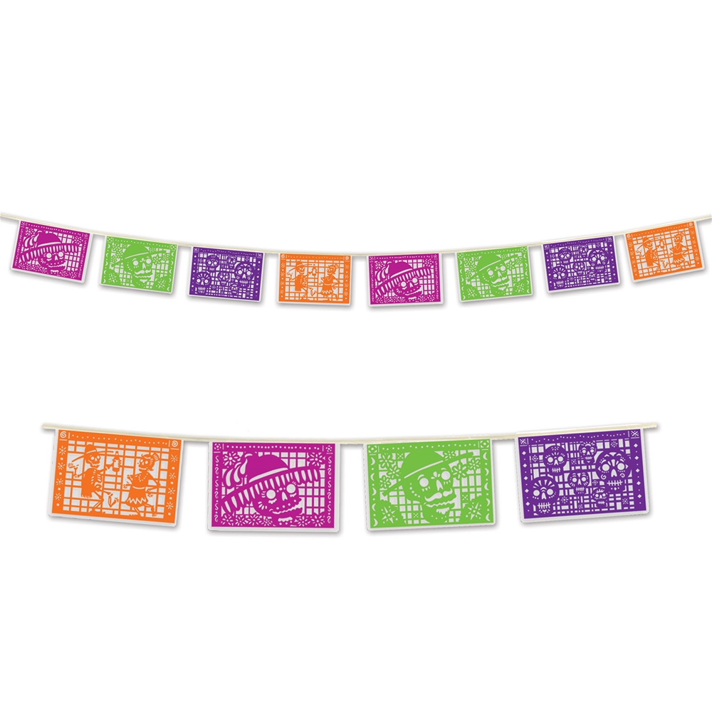 Day of the Dead Picado Pennant Banner 12ft