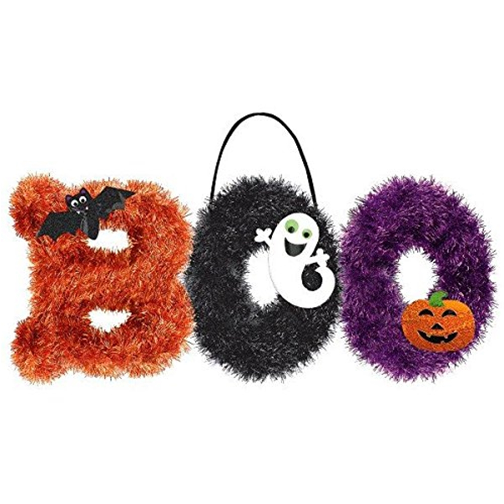 [Halloween Boo Tinsel Decoration] (Halloween Decorations)