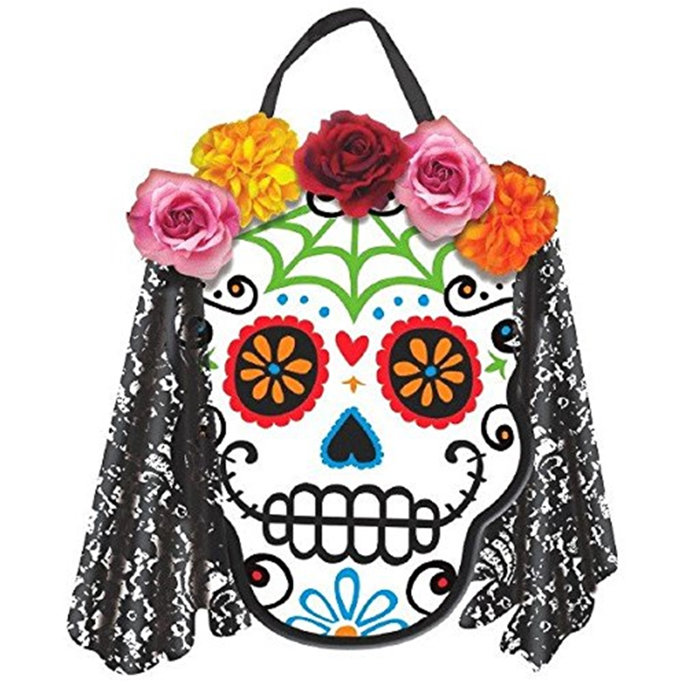 Day of the Dead Deluxe Sugar Skull Sign