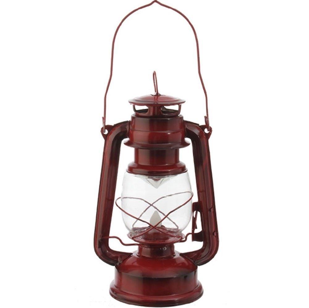 Railroad Red LED Metal Lantern 3625588