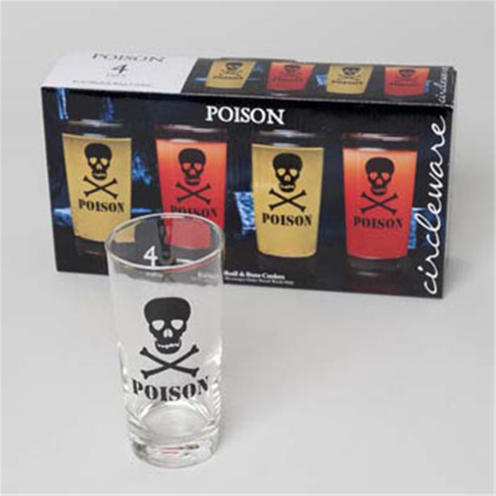 Halloween Poison Glass Set 4ct