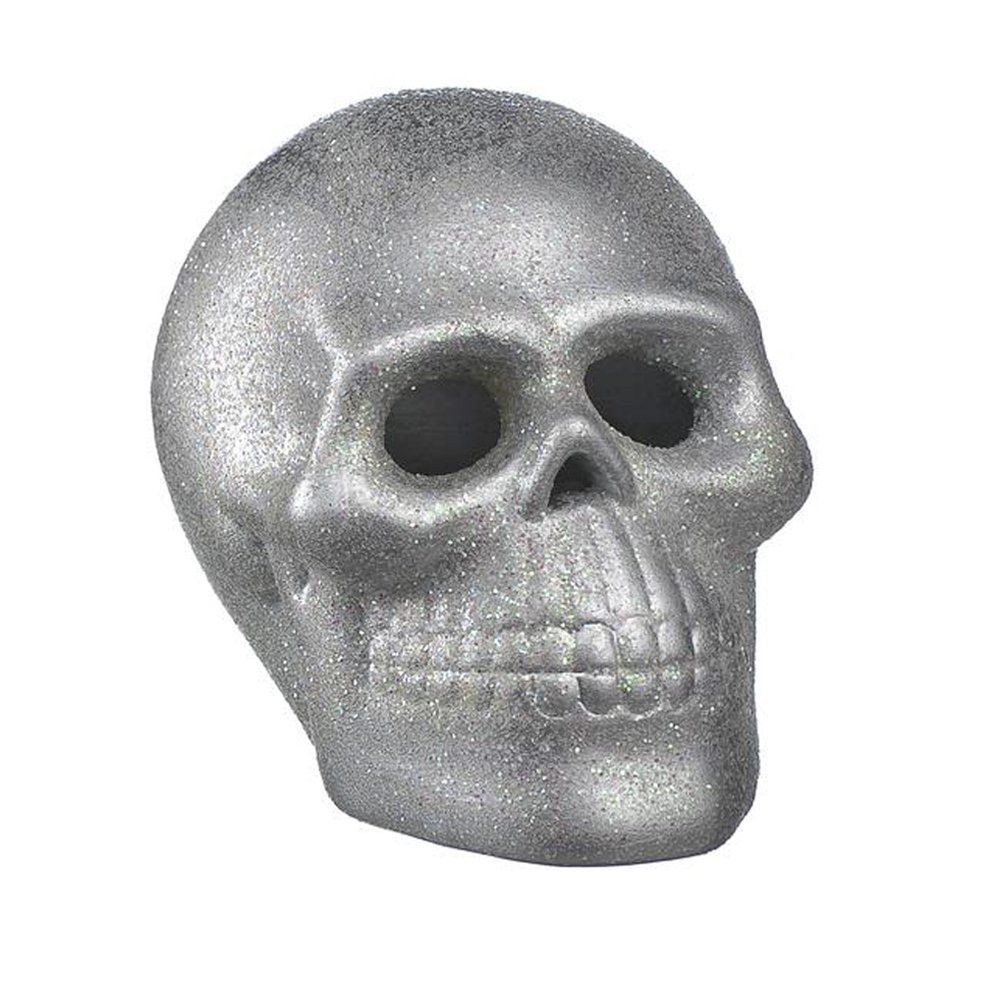 Small Silver Light-Up Skull