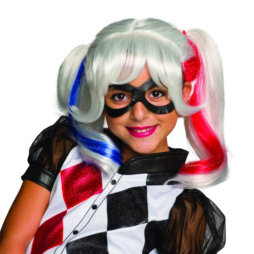 DC Super Heroes Harley Quinn Child Wig 32967