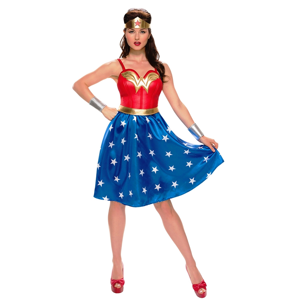Wonder Woman Long Dress Adult Womens Costume