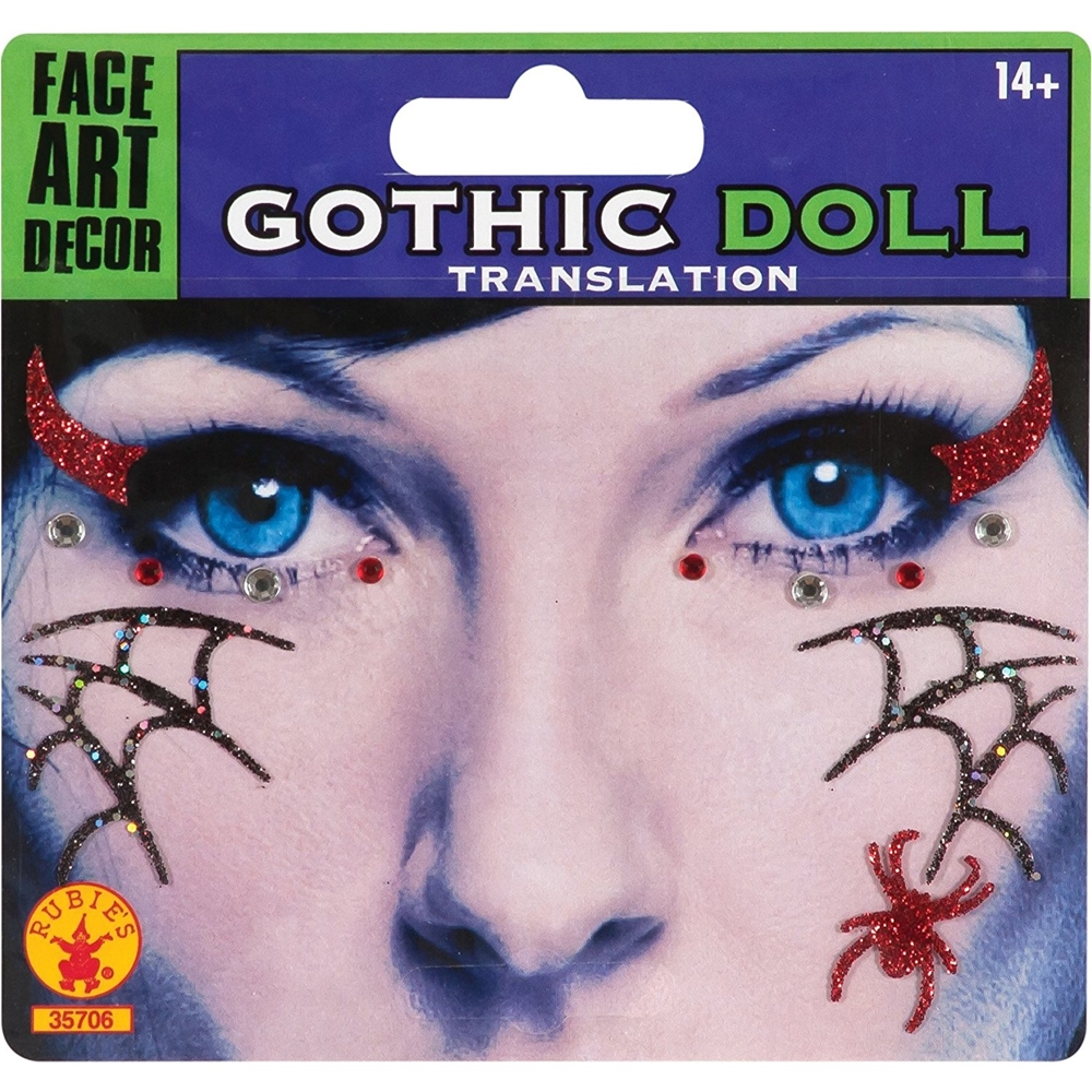 Gothic Doll Face Tattoos