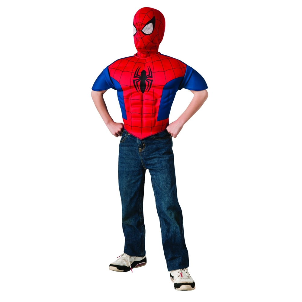 Ultimate Spider-Man Muscle Child Shirt & Mask 883271