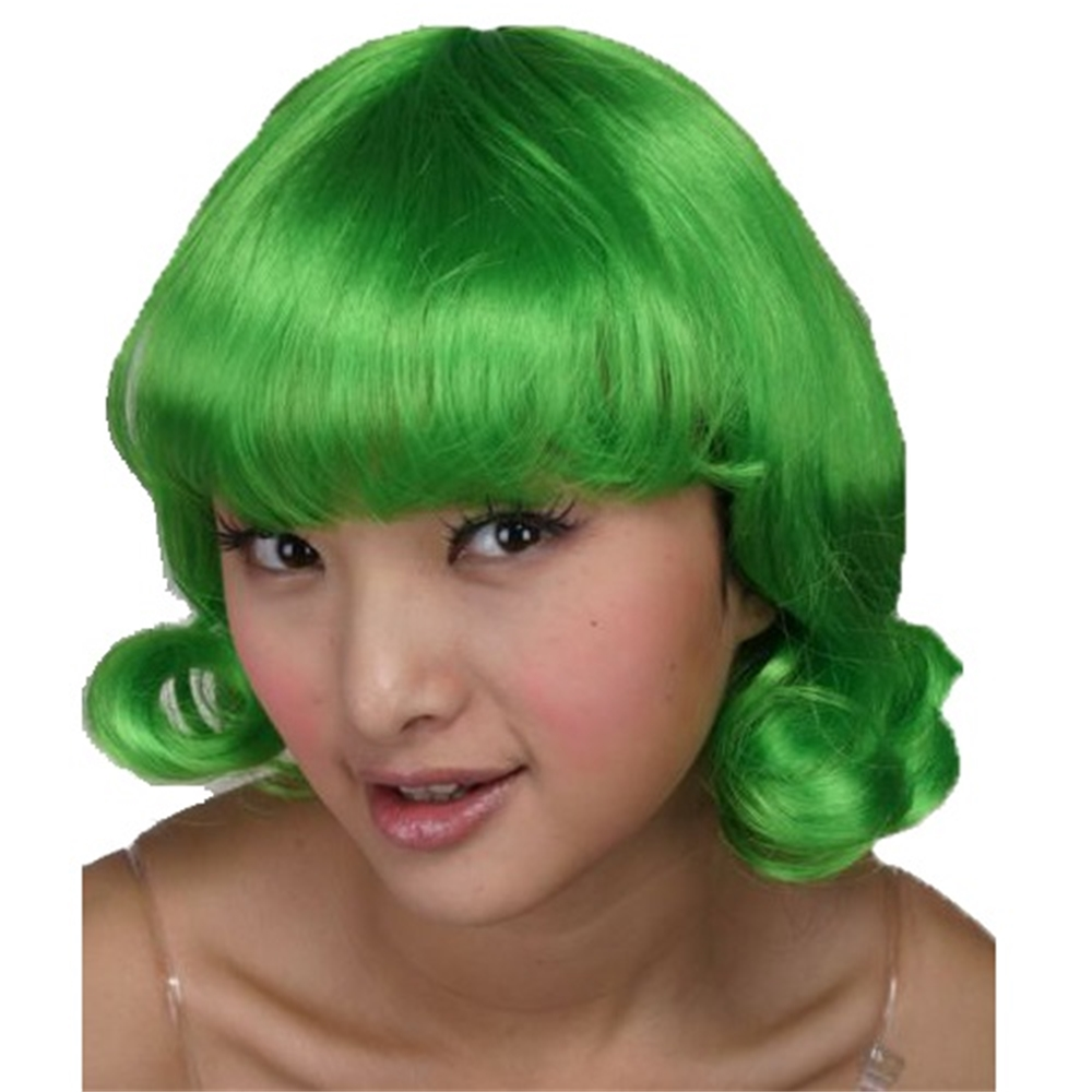 Happy Candy Worker Green Wig