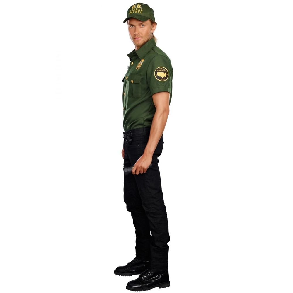 Border Patrol Agent Bill D. Wall Adult Mens Costume