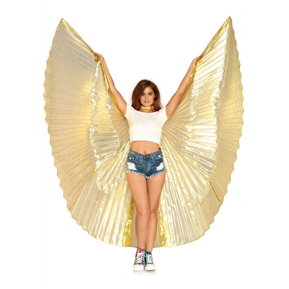 Gold Pleated Goddess Isis Wings