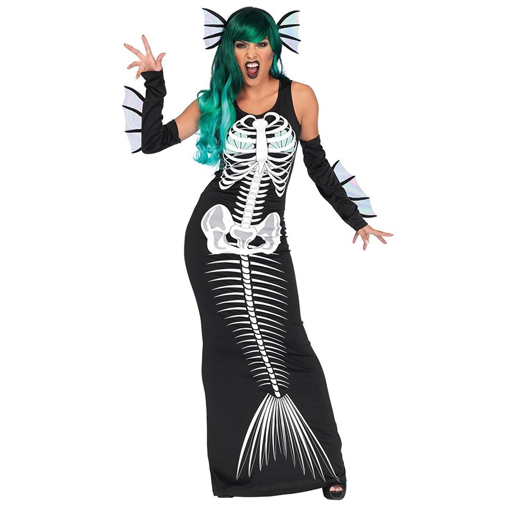 Www Halloween Decorating Ideas: Mermaid Skeleton Siren Adult Womens Costume