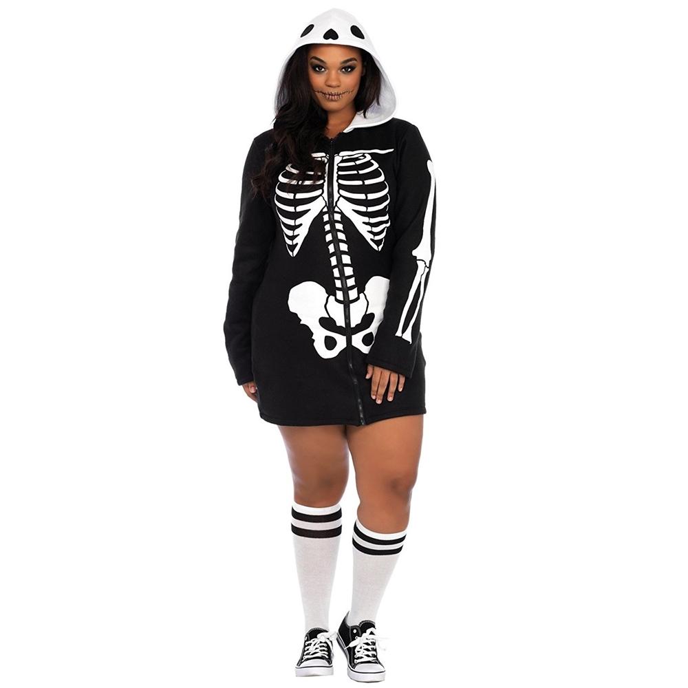 Cozy Skeleton Dress Adult Womens Plus Size Costume