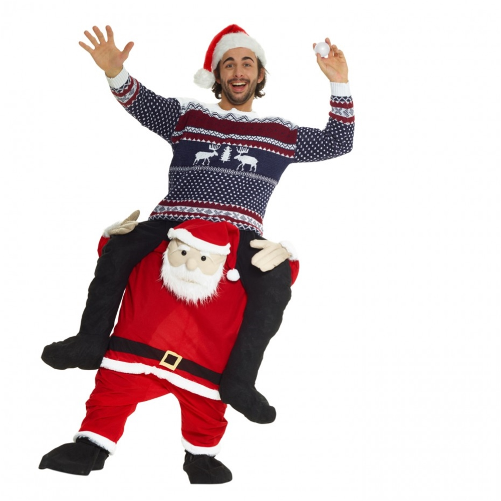 Www Halloween Decorating Ideas: Santa Claus Piggyback Adult Unisex Costume