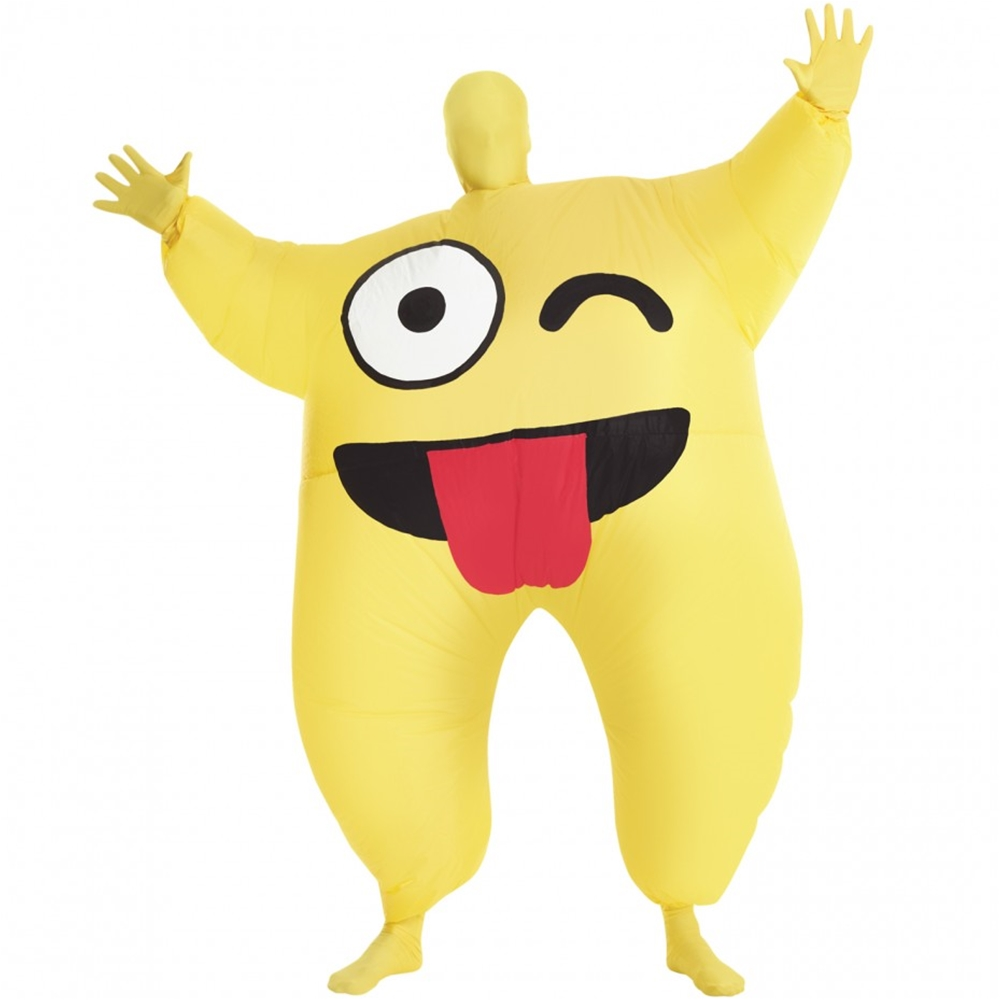 Cheeky Emoji Inflatable Adult Unisex Costume