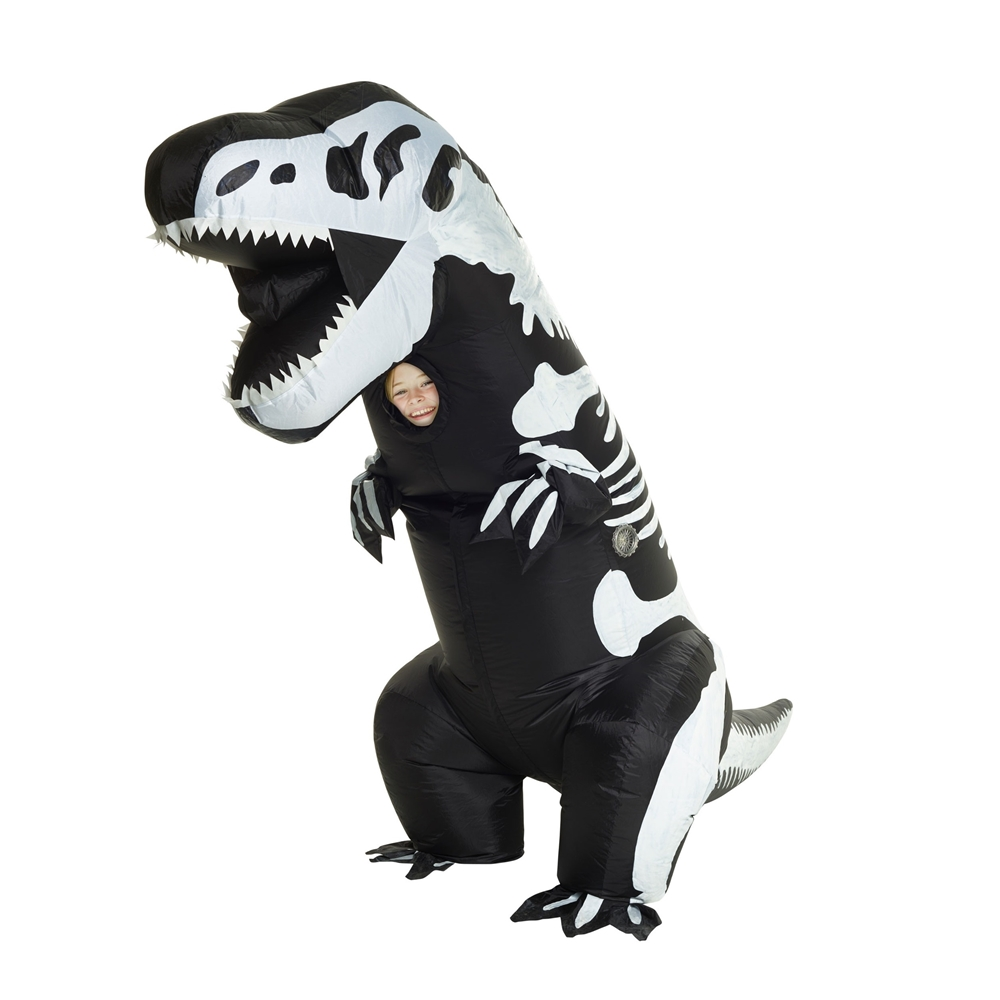 Giant T-Rex Skeleton Inflatable Child Costume