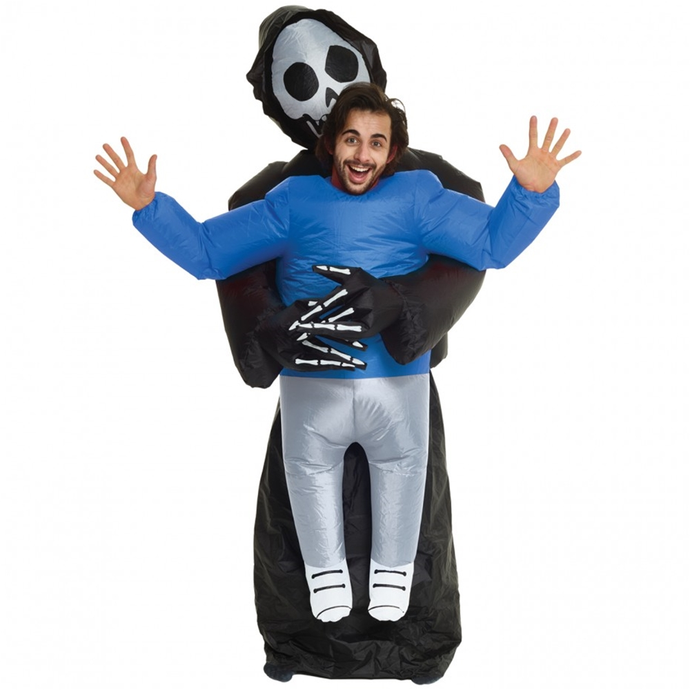 Www Halloween Decorating Ideas: Pick Me Up Grim Reaper Inflatable Adult Unisex Costume