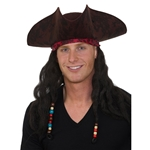 Caribbean-Pirate-Hat-with-Hair