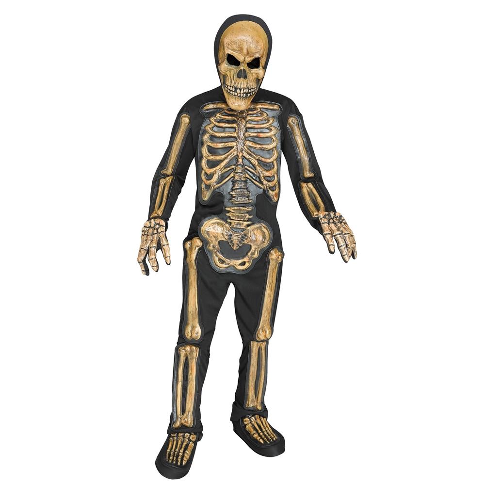 Realistic Zombie Skele-Bones Child Costume