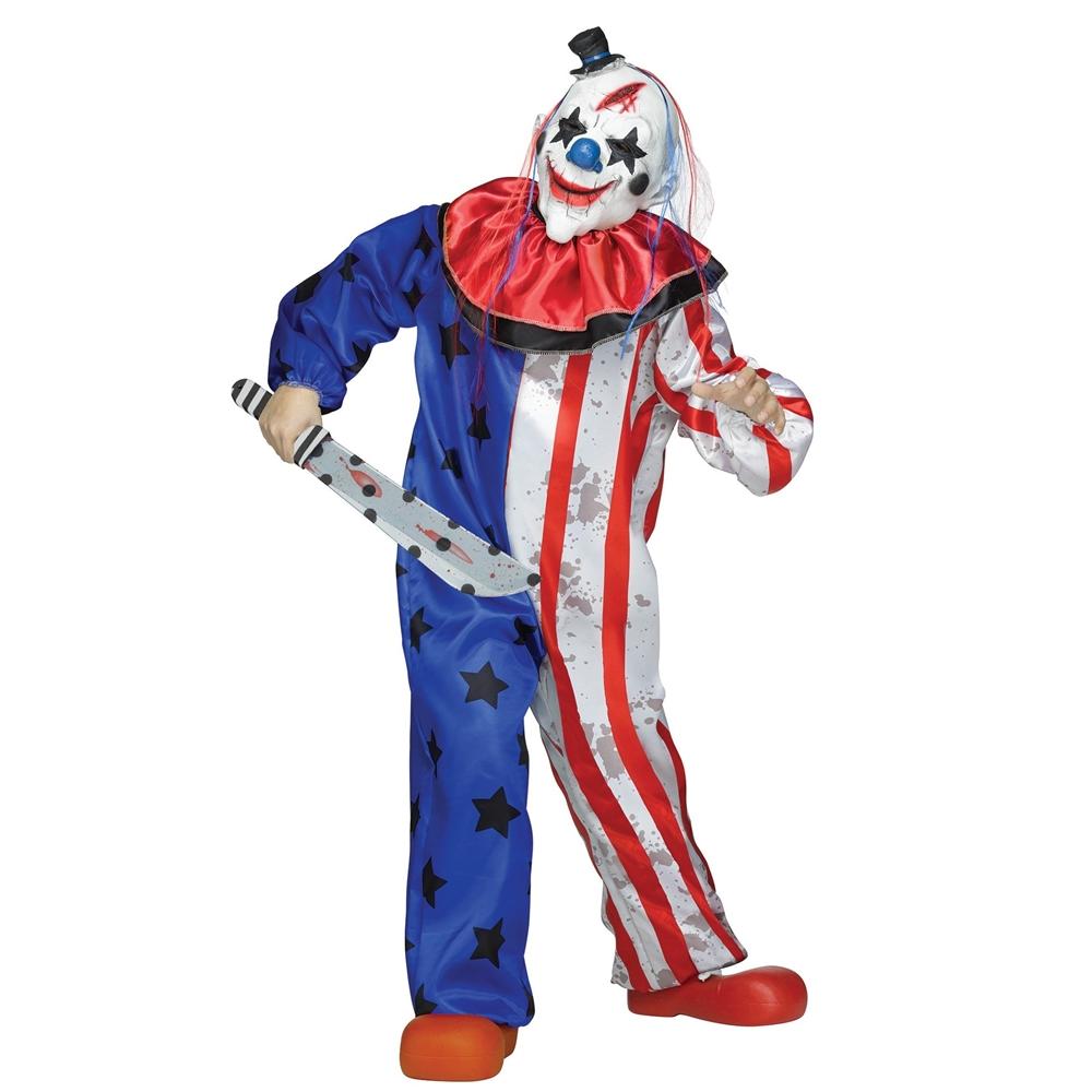 Stars Amp Stripes Evil Clown Child Costume 394603