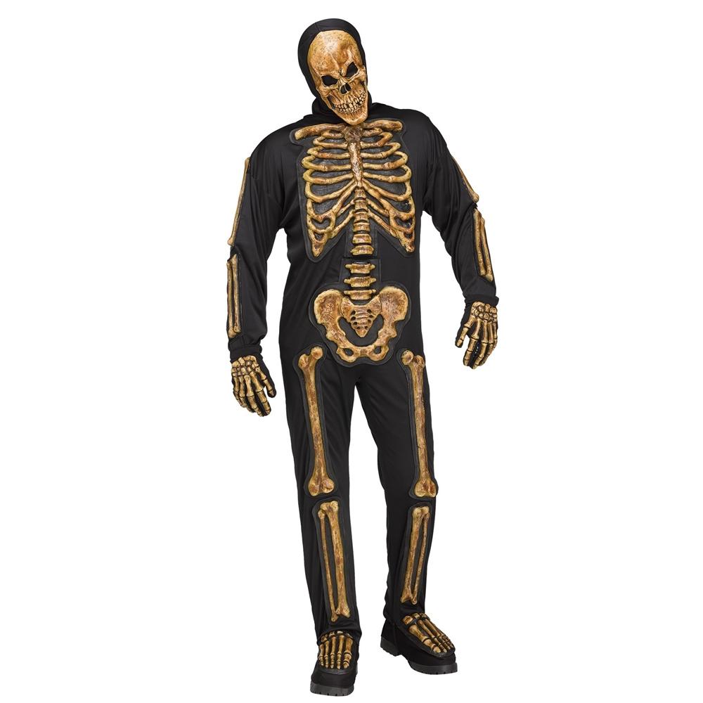 Realistic Zombie Skele-Bones Adult Mens Costume