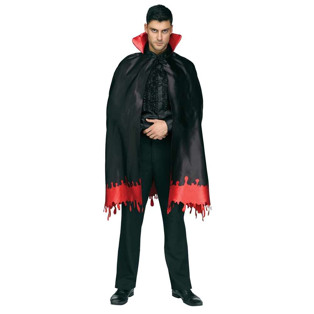 Count Crypt Blood Drip Cape 46in