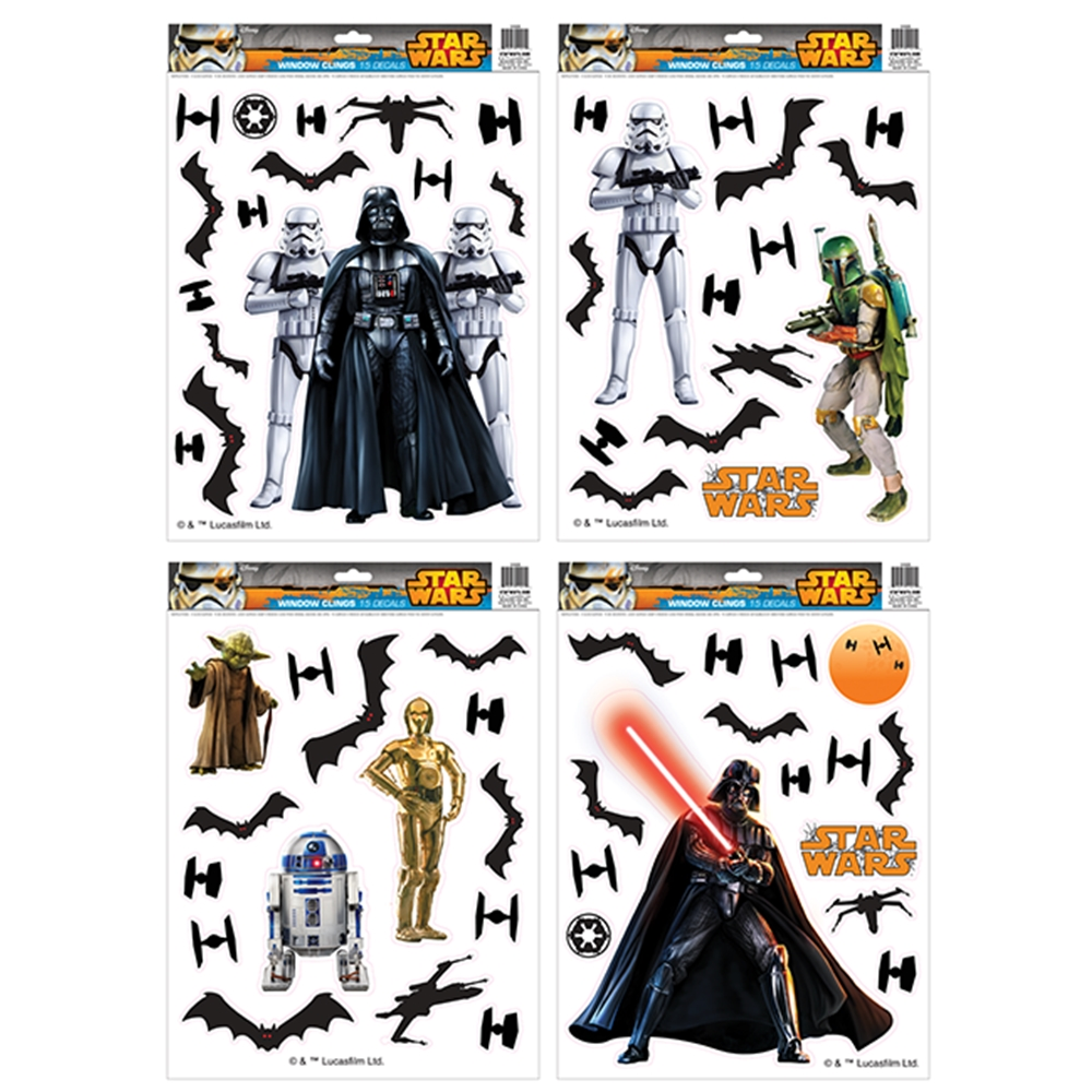 Star Wars Window Clings Set