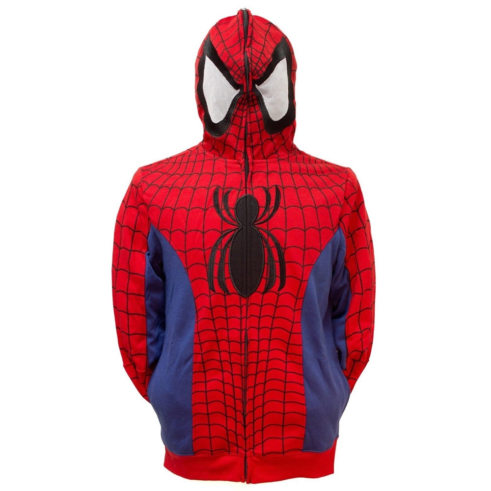 Spider-Man Adult Mens Cosplay Hoodie SPDRMNMNHDY