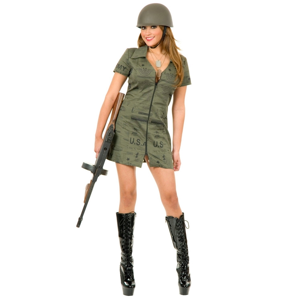 Sexy G.I. Girl Adult Womens Costume