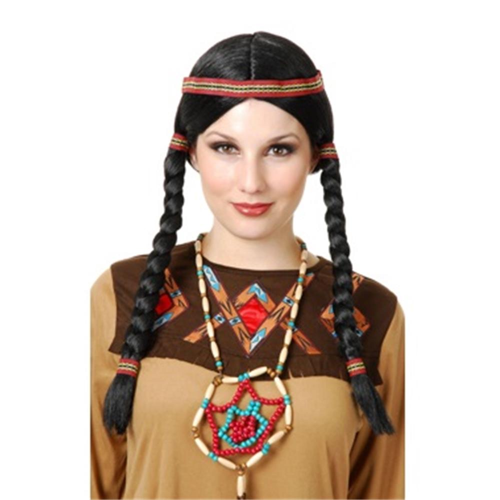 Black Native American Maiden Wig